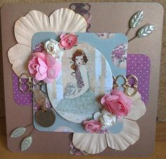 Santoro Willow card step by step instructions Craftwork Cards, Step By Step Instructions, Card Making, Crafty, Frame, Projects, Diy, Scrapbooking, Journal