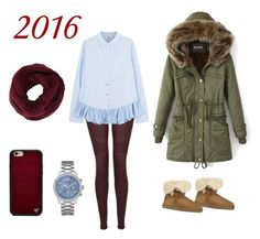 """Untitled #52"" by chertik-alena on Polyvore featuring J Brand, Clu, GUESS, UGG Australia, BCBGMAXAZRIA and Wildflower"