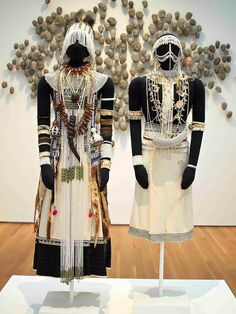 African ritual clothing, Xhosa people, Thembu subgroup, South Africa Costume for a Female Diviner and Costume for a Deviner's Acolyte, before 1966 African Fashion Traditional, African Traditional Wedding, African Inspired Fashion, Traditional Dresses, African Life, African Culture, African Wear, Xhosa, African Tribes