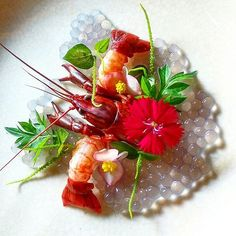 "By @chondro_kirono ""Fresh Water Lobster ♦ Apple Malang Caviar ♦ Suruhan Leaf (peperomia pellucida) ♦ Cosmos Leaf ♦ Edible Flower"" #instafood #instagramanet #instatag #food #foodporn #foodie #foodgasm #foodpics #foodpic #foodstagram #foods #foodphotography #foodies #foodlover #foodforthought #foodisfuel #foodblogger #foodcoma #foodgram #fooddiary #foodblog #foodlovers #foodart #foodspotting #foodshare #foodlove #yum #hungry #eat #foodartchefs"