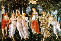 Sandro Botticelli La Primavera painting is shipped worldwide,including stretched canvas and framed art.This Sandro Botticelli La Primavera painting is available at custom size. Italian Renaissance Art, Renaissance Kunst, Renaissance Artists, Renaissance Paintings, Florence Renaissance, Renaissance Literature, Renaissance Gown, Primavera Botticelli, Galerie Des Offices