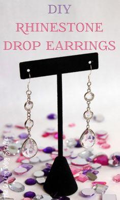 Create a beautiful pair of Rhinestone Drop Earrings. Perfect Bridal Earrings or for Prom.