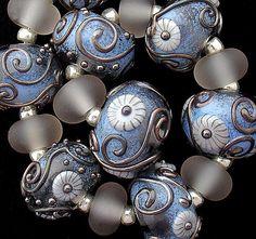 Gass beads various greys
