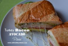 Turkey Bacon Avocado Panini #recipe #sandwich