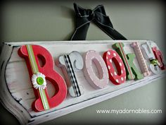 MyAdornables custom art and alphabet ~ shabby chic name plaque <3 myadornables is now @ www.SerendipityHillStudio.com