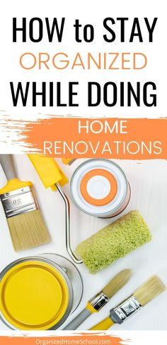 Wondering how to stay organized while doing home renovations? I've got you covered in this post. We even go over the best paint colors to use! Study Desk Organization, Bathroom Drawer Organization, Towel Organization, Garage Organization, Organization Ideas, Ikea Cupboards, Declutter Bedroom, Home Renovation Costs, Best Paint Colors