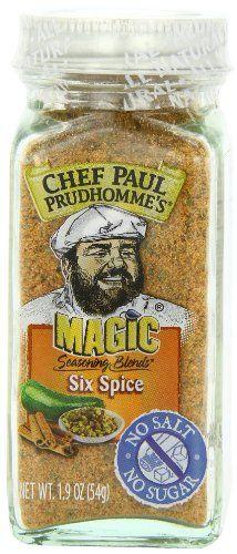 Chef Paul Prudhomme's Magic Seasoning Blends No Salt & No Sugar, Six Spice, 1.9-Ounce - http://satehut.com/chef-paul-prudhommes-magic-seasoning-blends-no-salt-no-sugar-six-spice-1-9-ounce/