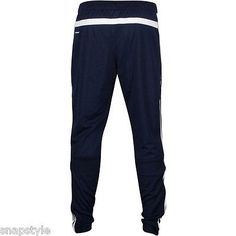Adidas Herr Navy Essentials 3 Stripes TRICOT Track Pants