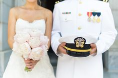 Photography : Joy Michelle Photography Read More on SMP: http://www.stylemepretty.com/maryland-weddings/annapolis/2015/08/17/elegant-naval-academy-wedding-in-annapolis/