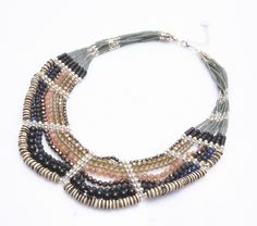 Kaipo Necklace-Brown Mix by Nakamol - Nakamol Chicago