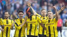 BL 26.Sptg.: Schalke 04 - B.Dortmund 1:1 - Der Mann mit der Maske trifft wieder: Aubermeyang