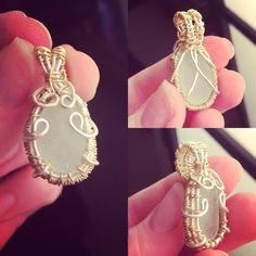 My first attempt at wire wrapping sea glass! It needs a LOT of work but I'm quite pleased with it considering I've never done it before. Does anyone have any tips for me please? I want to work on this until they're good enough to sell :) http://ift.tt/2oI3sA2 . how to make your own #crafts follow @cutephonecases