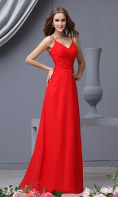 long red bridesmaid dresses