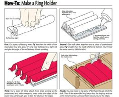 How to make a ring holder