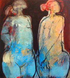 Christianne Knops | Galerie Liehrmann Figure Painting, Figure Drawing, Painting & Drawing, Found Art, Abstract Canvas Art, Naive Art, Artist Art, Figurative Art, Painting Inspiration