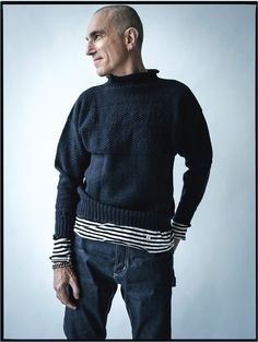 Actor Daniel Day-Lewis wears his own clothes for W magazine.