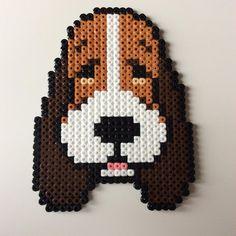 Basset Hound dog hama beads by _the_creative_girls_