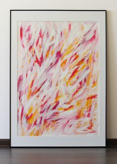 """Original abstract acrylic painting on paper """"Funny mood"""""""