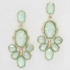 Kimmie Chandelier Earrings in Sage Opalescence on Emma Stine Limited