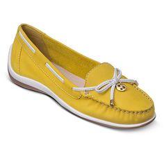 Mocassim de couro amarelo   Mocassins   Bottero Calçados