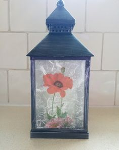 Each side has different flowers on. Different Flowers, Facebook Sign Up, Wildflowers, Lanterns, Decoupage, Led, Home Decor, Decoration Home, Room Decor