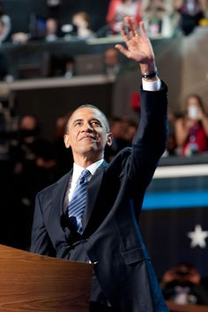 President Barack Obama during the DNC