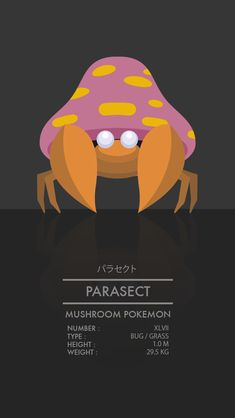 Parasect by WEAPONIX on deviantART