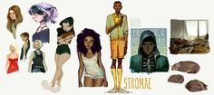 haven't posted any sketches for a while now! i post these on my sketchblog, be sure to follow me there if you want to stay updated with rouger work. girl with curly hair to the left of stromae is m...