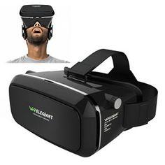 ELEGIANT 3D VR Lunettes Google Carton 3D Jeux Vidéo Lunettes VR casque 360 Affichage de réalité virtuelle immersive 3,5-6,0» Compatible…