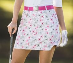 """White Daily Sports Ladies Belle 18"""" Golf Skort now at one of the top shops for ladies golf outfits #lorisgolfshoppe"""