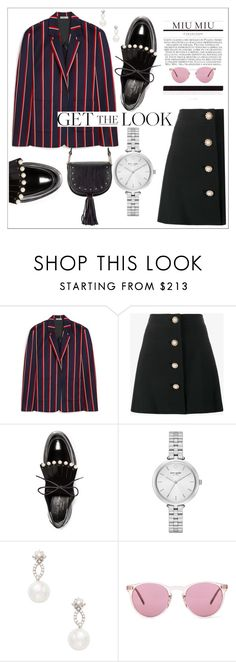 """Getthelook"" by rushanaofficials ❤ liked on Polyvore featuring Mulberry, Miu Miu, Robert Clergerie, Kate Spade, Inner Circle Jewelry, Oliver Peoples and look"