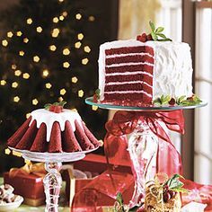 2005 Cover Cakes of Christmas Past | Chocolate-Red Velvet Cake | SouthernLiving.com