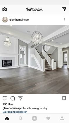 When homeowners invite guests and company into their home typically the first thing that visitors see is the living room, or family room, of the house. Unless there is a foyer before the living roo… Dream Home Design, My Dream Home, Home Interior Design, House Design, Living Room Remodel, Home Living Room, Küchen Design, Great Rooms, Home Remodeling