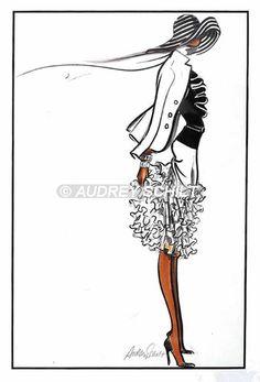 Ruffle Skirt/ Stripe hat profile