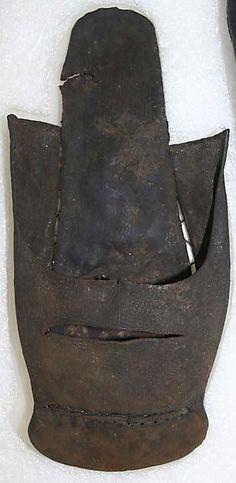 Shoes, presumably leather, 16th century, British.