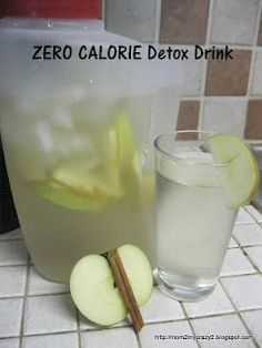 http://#Detox http://#Apple http://#Cinnamon http://#Water. BOOST Your METABOLISM Naturally with this ZERO CALORIE Detox Drink: Day Spa Apple Cinnamon Water 0 Calories. Put down the diet sodas and crystal light and try this out for a week. You will drop weight and have TONS OF ENERGY!