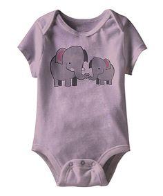 Look at this #zulilyfind! Lavender Elephant Bodysuit - Infant by American Classics #zulilyfinds