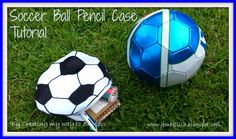 Soccer Ball Pencil Case TUTORIAL... What little soccer fan wouldn't want a pencil case that looks just like a soccer ball. Get the tutorial at ~ Creating My Way to Success