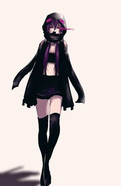 A quick drawing I did of an Ender(girl) based off my Minecraft skin. xD Nothing really special. it was a quick one. Check out the second version! : kyuu-ji.deviantart.com/art/End...