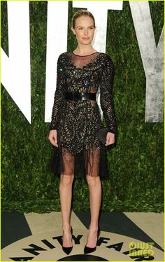 Kate Bosworth in Parbal Gurung @ Vanity Fair Oscar party. Love the beading on the dress