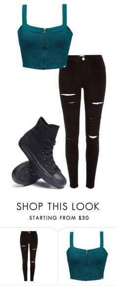 """fanfic outfit- blue jeans-"" by elladorix-black on Polyvore featuring River Island, Element and Converse"