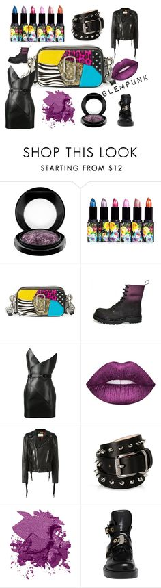 """Glampunk"" by babettberkes on Polyvore featuring MAC Cosmetics, Marc Jacobs, Yves Saint Laurent, Lime Crime, Gucci, Barbara Bui, Bobbi Brown Cosmetics and Balenciaga"