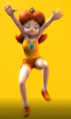 But What is Daisy doing ??   Answer very soon !   #WeAreDaisy #princessdaisy #supermario #nintendo #O_O #funny #what #nice #screenshot