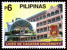 Philippines.  LICEO DE CAGAYAN 50 YEARS.   Scott 2950  A933, Issued 2005 Feb 5, Litho., Perf. 14, Php  6. /ldb.
