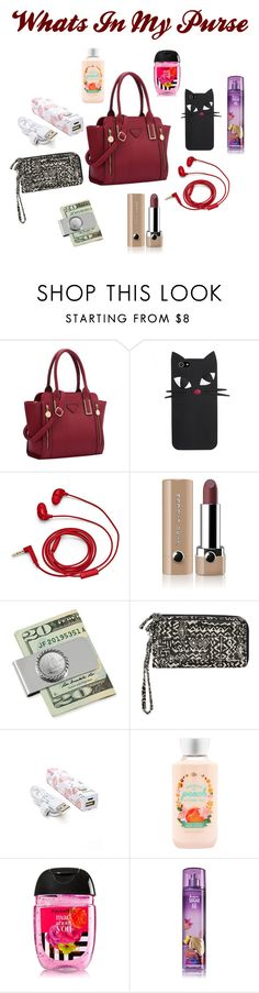 """What's In My Purse ?"" by arnettmckenzie ❤ liked on Polyvore featuring FOSSIL, Marc Jacobs, American Coin Treasures, Billabong and Forever 21"
