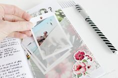 Vellum pocket for photos in Travelers Notebook