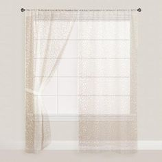 One of my favorite discoveries at WorldMarket.com: White Leaf Sheer Sleevetop Burnout Curtains Set of 2