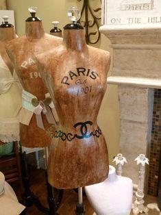 7 Ways To Use A Dress Form-Dress Form Designer Fashion Mannequin Paris Vintage Inspired Fashion Mannequin, Dress Form Mannequin, Mannequin Art, Mademoiselle Coco, Retro, Vintage Mannequin, High Fashion Dresses, Chanel Dress, Lady Grey