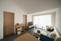 living room | WORKS | SEKI DESIGN STUDIO Corner Desk, It Works, Living Room, Studio, Furniture, Design, Home Decor, Corner Table, Decoration Home