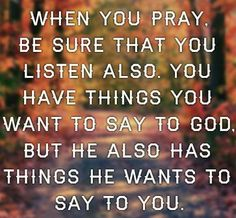 PRAYER IS A TWO-WAY STREET
